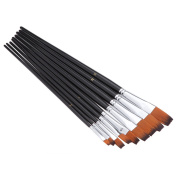 Paint Brushes Set 9pcs Professional Artists Paint Brush Nylon Paint Brushes for Watercolour Oil Acrylic Painting