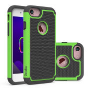 iPhone 7 Case, GreenElec [Shock Absorption] [Scratch-proof] [Impact Resistant] Hybrid Dual Layer Armour Defender Protective Case Cover for iPhone 7