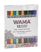 Ganz WAMA Colouring Markers, 12 pc. set