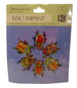 K & Company Rough & Tumble Tin Bug Clips