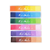 Miraclekoo 36 Colour Rainbow Finger Painting Ink Pads for DIY Craft and Rubber Stamps,Set of 6
