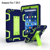 Amazon Fire 7 2015 Case, GreenElec Hybrid Dual Layer Armour Defender Built in Stand Protective Case Cover With [Shockproof] [Scratch-proof] [Impact Resistant] for Amazon Fire 18cm 5th Generation 2015