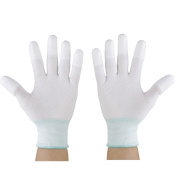 MagiDeal Nylon Sewing Quilting Gloves for Machine Quilters M White