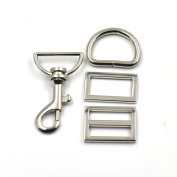 """5 Sets Swivel Hook 1"""" 25mm Clips Buckles Triglides D ring Rectangle Strap Snap Nickle"""