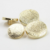 Fashion Gold Matte Surface Metal Shank Buttons for Fashion Coats(Gold, Pack of 6)