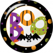 Snap button Boo Halloween bat 18mm Cabochon chunk charm