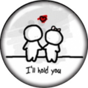 Snap button I'll hold you 18mm Cabochon chunk charm
