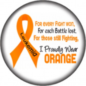 Snap button Leukaemia Awareness Ribbon 18mm Cabochon chunk charm