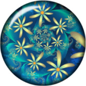 Snap button Happy Spring Flower Power 18mm Cabochon chunk charm