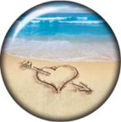 Snap button Love Beach Heart Arrow Sand art 18mm Cabochon chunk charm