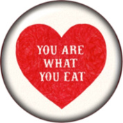 Snap button You are what you eat 18mm Cabochon chunk charm