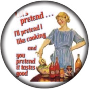 Snap button Sarcasm Let's pretend cooking 18mm Cabochon chunk charm