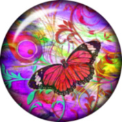 Snap button Butterfly 18mm Cabochon chunk charm