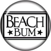 Snap button Beach Bum 18mm Cabochon chunk charm