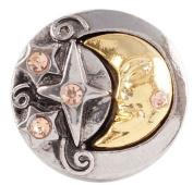 Snap button Moon Stars Celestrial 18mm Cabochon chunk charm