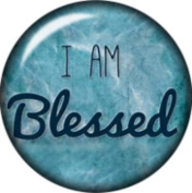 Snap button I am Blessed 18mm Cabochon chunk charm