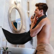 Alayna Beard Trimming Catcher- Trim Your Beard with No More Mess! Top Quality Grooming Cape to Keep Yourself and your Sink Clean. Great Shaving Gift!