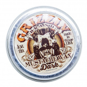 Grizzly Brand Heavy Hold Dark Moustache Wax 30ml
