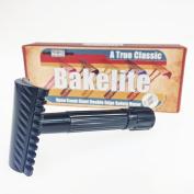 Phoenix Bakelite Open Comb Slant Safety Razor - Black