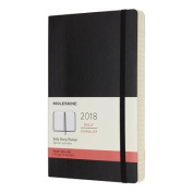 Moleskine 12 Month Daily Planner, Large, Black, Soft Cover