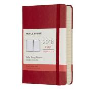 Moleskine 12 Month Daily Planner, Pocket, Scarlet Red, Hard Cover