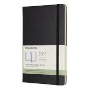 Moleskine 12 Month Weekly Planner, Large, Black, Hard Cover