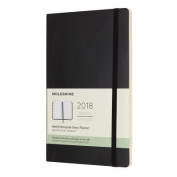 Moleskine 12 Month Weekly Planner, Large, Black, Soft Cover