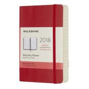 Moleskine 12 Month Daily Planner, Pocket, Scarlet Red, Soft Cover