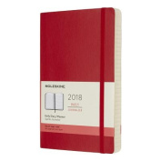 Moleskine 12 Month Daily Planner, Large, Scarlet Red, Soft Cover