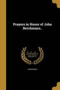Prayers in Honor of John Berchmans..