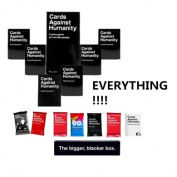 New Cards Against Humanity Cards Game FULL SET Everything Inside AUS BaseSet + 6Expansions + 7Packs + Bigger Blacker Box