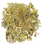 ALL in ONE Mixed Gold Filigree Charm Pendant Jewellery Findings