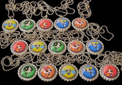 15 POWER PUFF GIRLS Flat Bottle Cap Necklaces for Birthday, Party Favour Set 2
