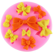 Mujiang 8 Mini Bow Silicone Sugar Gumpaste Cake Decorating Clay Moulds