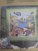 Needlepoint Tropical Fish Picture
