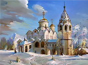 Arts Language Wooden Framed 41cm x 50cm Paint by Numbers Diy Painting -Smolny Institute