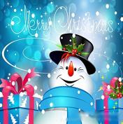 Queenlink Full Pasted DIY Square Diamond Embroidery Paintings Rhinestone Cross Stitch Christmas Snowman