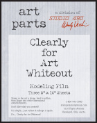 Wendy Vecchi Clearly For Art Modelling Film Sheets 3/Pkg-Whiteout, 20cm x 25cm