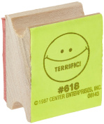"Centre Enterprise CE618 ""TERRIFIC! SMILE FACE"" Wood Stamp"