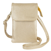 MINICAT Roomy Pockets Series Premium Soft PU Leather Small Crossbody Cell Phone Purse Wallet Bag