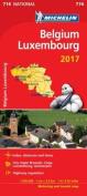 Belgium 2017 & Luxembourg National Map 716
