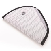 Seat Belt Adjuster, Car Safety Cover Strap Adjuster Pad Harness, Luxuries Comfortable Protection for Adult Children Keep Belt Away From Neck and Face, Made of Air Mesh Fabric