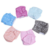 LAIMALA 6pack Baby Cloth Nappy ,Baby Reusable Washable All in one Size Cloth Pocket Nappies, Adjustable Snap