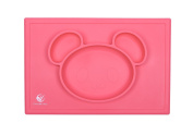 The Mess-Less Mat, Soothing Pastel Colours Relieve Stress and Promote Happiness, FDA Approved, Children's Silicone Placemat