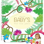 Baby's First Five Years Memory Book With 12 Milestone Stickers, Jungle Edition