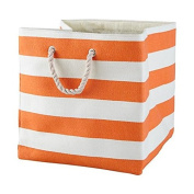 Large Storage Baskets and Bins - Store Toys, Laundry, Clothes for a Bedroom, Kids Room, Nursery, Home Office, Living or Family Room - Orange