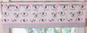 GEENNY One Window Valance, Pink Grey Elephant