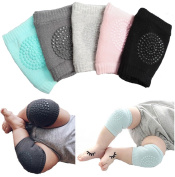 Unisex Baby Toddlers Kneepads, 5 Pairs Adjustable Knee Elbow Pads Crawling Safety Protector by Toptiim