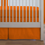 Carousel Designs Solid Orange Crib Skirt Box Pleat 36cm Length