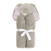 OLizee® Cartoon Plush Security Baby Blanket Comfy Cosy Baby Bath Towel Ultra Soft Cuddle Bud Blankie 80cm x 80cm , Grey Rabbit